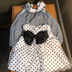 Lot of two 12M rare editions baby outfits